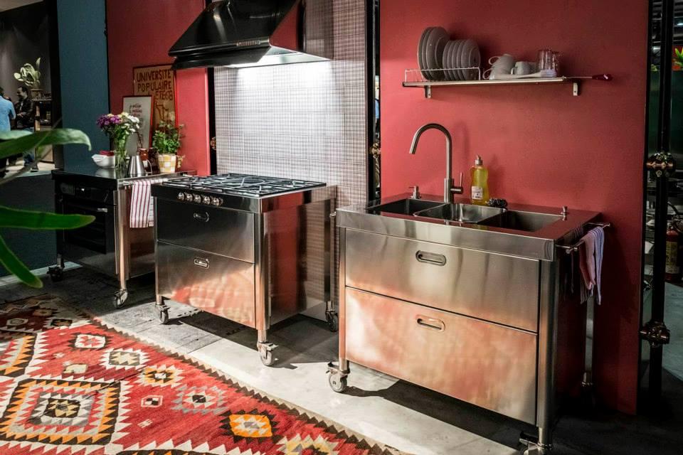 Alpes inox freistehende kuchenmodule edelstahlmobel for Freistehende küchenmodule