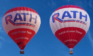 Ballone in der Luft mit Energie von Rath